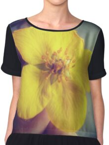A Flower in Hand... Chiffon Top