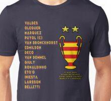 Barcelona 2006 Champions League Final Winners Unisex T-Shirt