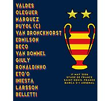 Barcelona 2006 Champions League Final Winners Photographic Print