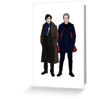 Sherlock and The Doctor Greeting Card