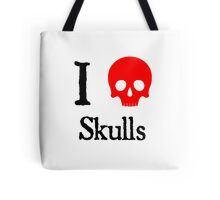 I Heart Skulls Tote Bag