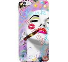 Marilyn post punk pop graffiti iPhone Case/Skin