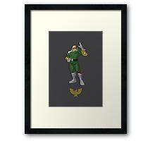 Captain Falcon Green - Super Smash Brothers Framed Print
