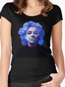 Paradox of Marylin Monroe (purple) Women's Fitted Scoop T-Shirt
