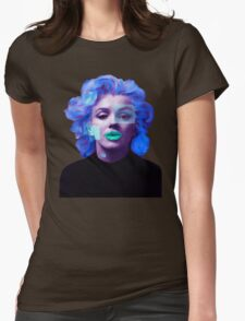 Paradox of Marylin Monroe (purple) Womens Fitted T-Shirt