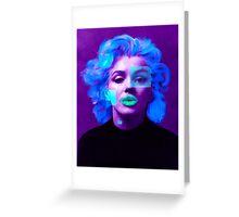 Paradox of Marylin Monroe (purple) Greeting Card