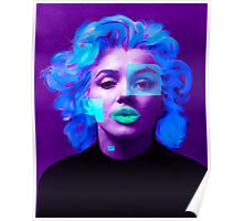 Paradox of Marylin Monroe (purple) Poster