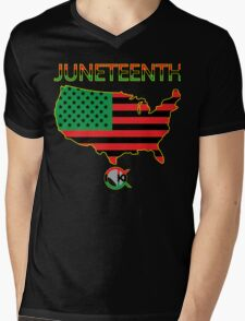 Juneteenth America Mens V-Neck T-Shirt