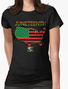 Juneteenth America Womens Fitted T-Shirt