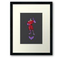 Captain Falcon Purple - Super Smash Brothers Framed Print