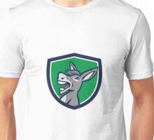 Donkey Head Shouting Crest Retro Unisex T-Shirt