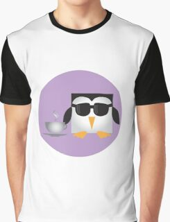 Pixel Penguin - Coffee Graphic T-Shirt