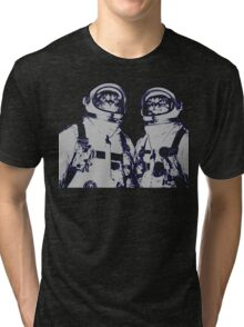 Space Cats And The Moon Tri-blend T-Shirt