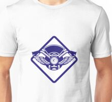 Motorbike Handlebar Headlamp Wings Diamond Retro Unisex T-Shirt