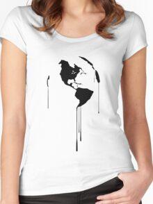 Splatter Earth 1 (black) Women's Fitted Scoop T-Shirt