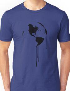 Splatter Earth 1 (black) Unisex T-Shirt