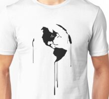 Splatter Earth 1 (black) Unisex T-Shirt