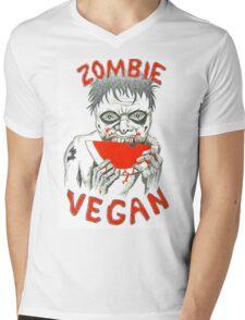 Zombie Vegan Mens V-Neck T-Shirt