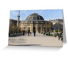 A Large European Building On A Sunny Day Greeting Card