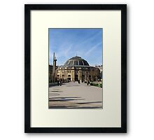 A Large European Building On A Sunny Day Framed Print