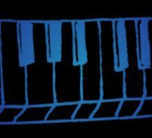 Blue Piano Sticker