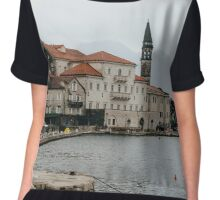 Old town of Perast Chiffon Top