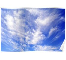 Beautiful blue sky with white clouds. Poster