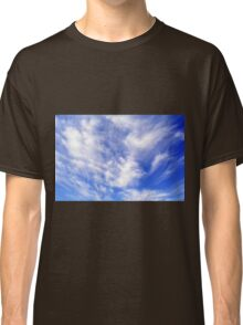 Beautiful blue sky with white clouds. Classic T-Shirt
