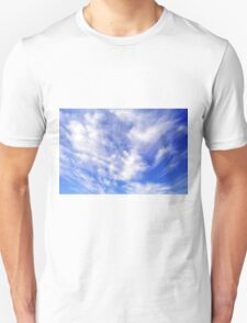 Beautiful blue sky with white clouds. Unisex T-Shirt