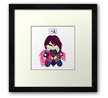 Psylocke Started Following Apocalypse Framed Print