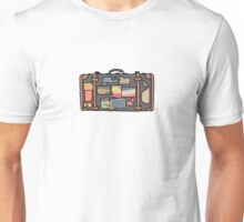 Colorful Simple Luggage Graphic Unisex T-Shirt