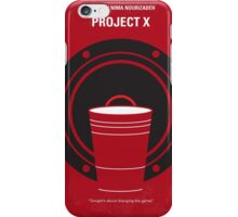 No393 My PROJECT X minimal movie poster iPhone Case/Skin