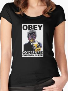 Obey Consume Women's Fitted Scoop T-Shirt