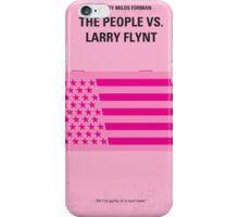 No395 My The People vs. Larry Flynt minimal movie poster iPhone Case/Skin