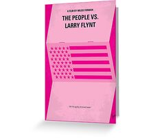 No395 My The People vs. Larry Flynt minimal movie poster Greeting Card