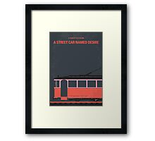 No397 My street car named desire minimal movie poster Framed Print