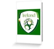 Ireland Italia 90 Logo Greeting Card