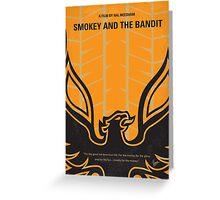No398 My smokey and the bandits minimal movie poster Greeting Card