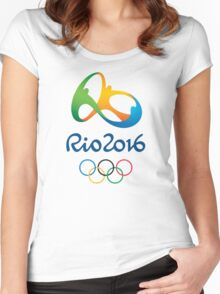 OLIMPIADE rio janeiro brazil Women's Fitted Scoop T-Shirt