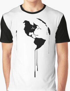 Splatter Earth 1 (black) Graphic T-Shirt