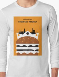 No402 My Coming to America minimal movie poster Long Sleeve T-Shirt