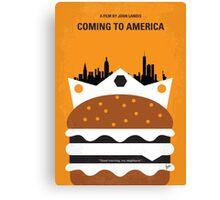 No402 My Coming to America minimal movie poster Canvas Print
