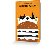 No402 My Coming to America minimal movie poster Greeting Card