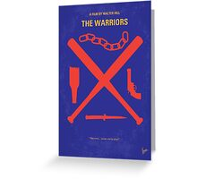 No403 My The Warriors minimal movie poster Greeting Card
