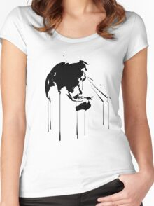 Splatter Earth 2 (black) Women's Fitted Scoop T-Shirt