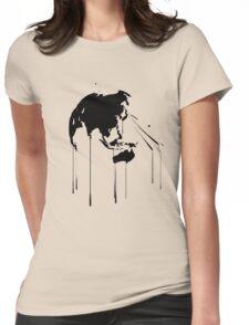 Splatter Earth 2 (black) Womens Fitted T-Shirt