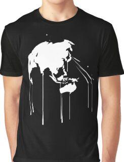 Splatter Earth 2 (white) Graphic T-Shirt