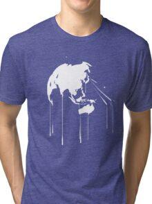 Splatter Earth 2 (white) Tri-blend T-Shirt