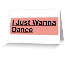Tiffany I Just Wanna Dance Kpop Greeting Card