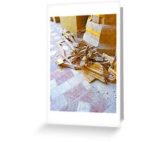 L'Aquila: collapsed church with rubble Greeting Card